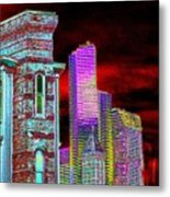 Old And New Seattle Metal Print