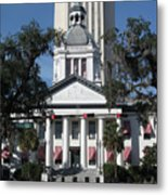 Old And New State Capitol Metal Print