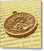 Old Aquarius Astrology Metal Print