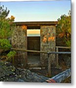 Old Army Lookout In Sunset Hour Metal Print