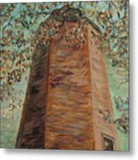 Old Baldy Light House In Teal Metal Print