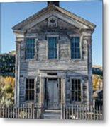 Old Bannack Schoolhouse And Masonic Temple 2 Metal Print