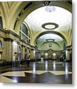Old Barcelona Train Station Metal Print