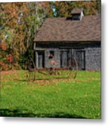 Old Barn And Rusty Farm Implement 01 Metal Print