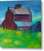 Old Barn And Shed  Metal Print by Steve Jorde