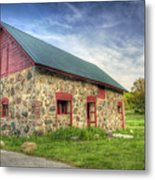 Old Barn At Dusk Metal Print