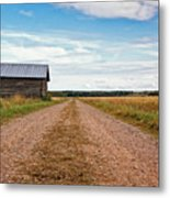Old Barn By The Gravel Road Metal Print