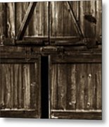 Old Barn Door - Toned Metal Print