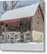 Old Barn In Upper Roxborough In The Snow Metal Print