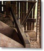 Old Barn Interior Metal Print