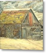 Old Barn Mossey Roof Metal Print