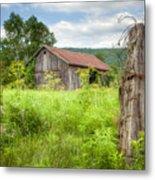 Old Barn Near Stryker Rd. Rustic Landscape Metal Print