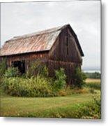 Old Barn On Seneca Lake - Finger Lakes - New York State Metal Print by Gary Heller