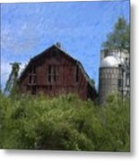 Old Barn On Summer Hill Metal Print