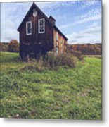 Old Barn Out In A Field Metal Print