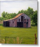 Old Barn  Poetry Tx Metal Print