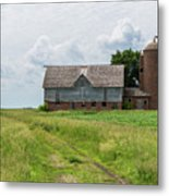 Old Barn Country Scene 4 A Metal Print