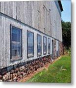 Old Barn Windows Metal Print