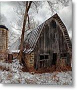 Old Barn Winter Metal Print