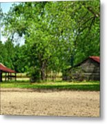 Old Barns In The Woods Metal Print