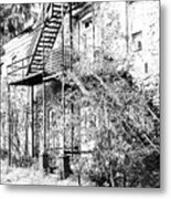 Old Black And White House  Metal Print