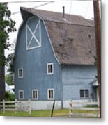 Old Blue Barn Littlerock Washington Metal Print