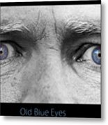 Old Blue Eyes Poster Print Metal Print