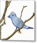 Old Bluebird Ornament Metal Print