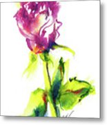 Old Blush - Rose Metal Print