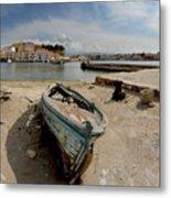 Old Boat In Crete Metal Print