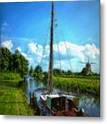 Old Boat In Holland Metal Print