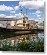 Old Boats Along The Exeter Canal 2 Metal Print