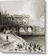 Old Boats Bridge, Limerick, Ireland Metal Print
