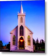 Old Bodega Church Sunset Metal Print