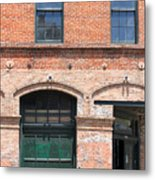 Old Brick Building Metal Print