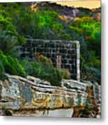 Old Brick Fence Built To The Edge Metal Print