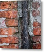 Old Brick Wall Abstract Metal Print