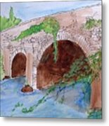 Old  Bridge In Ireland Metal Print