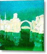 Old Bridge In Mostar Metal Print