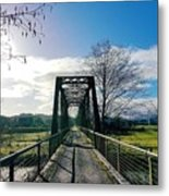 An Old Railroad Bridge  Metal Print