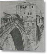 Old Bridge -mostar Metal Print
