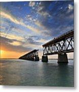Old Bridge Sunset Metal Print