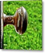 Old Brown Doorknob Metal Print