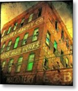 Old Empty Building In Retro Colors Metal Print