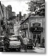 Old Buildings And Cars In Havana - V2 Metal Print