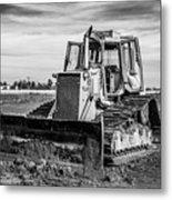 Old Bulldozer Metal Print