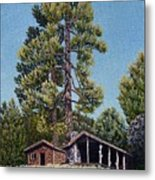 Old Cabin In The Pines Metal Print