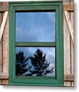 Old Cabin Window Metal Print