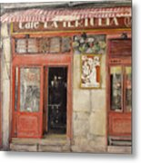 Old Cafe- Santander Spain Metal Print