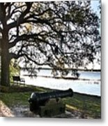 Old Cannon By The Sea Metal Print